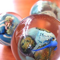 Josh Simpson glass featured at Mackerel Sky Gallery of Contemporary Craft