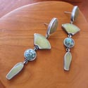 Earrings by jeweler Terri Logan featured at Mackerel Sky Gallery of Contemporary Craft