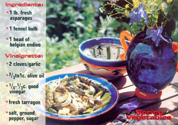 Spring Vegetables recipe from Mackerel Sky Gallery of Contemporary Craft