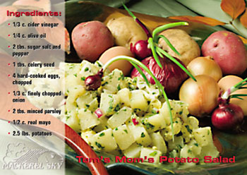 Tom's Mom's Potato Salad recipe from Mackerel Sky Gallery of Contemporary Craft